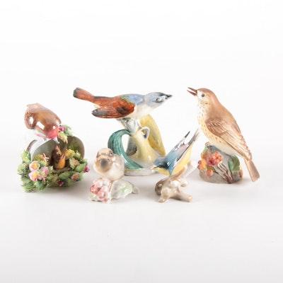 Stangl, Hutschenreuther, Royal Worcester and Royal Adderley Bird Figurines