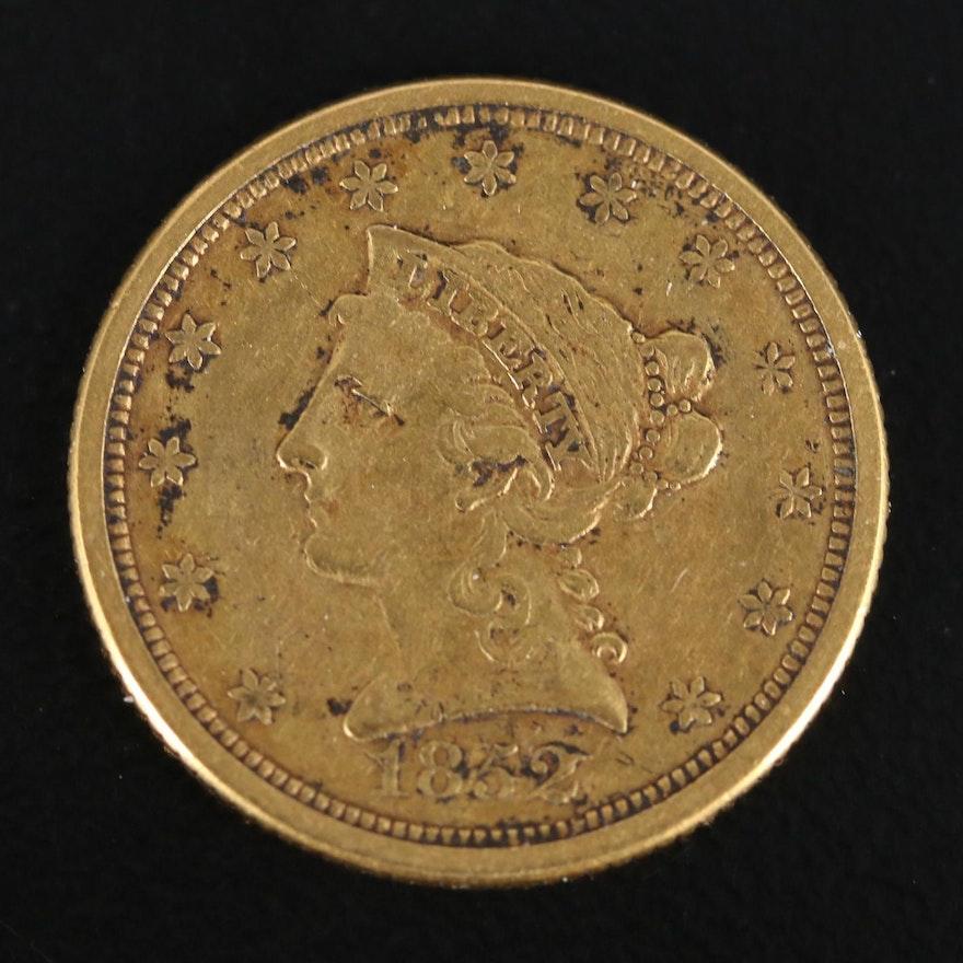 1852-O Liberty Head $2.50 Gold Quarter Eagle