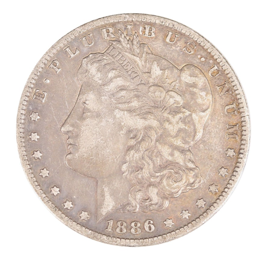 Better Date Low Mintage 1886-S Morgan Silver Dollar