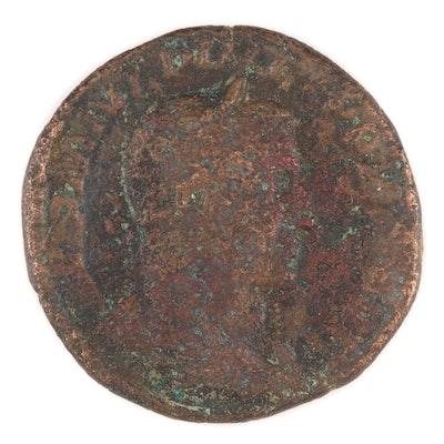 Ancient Roman Imperial AE Sestertius Coin of Philippus I, ca. 224 AD