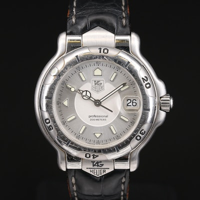 TAG Heuer 6000 Professional 200 Meters Stainless Steel Wristwatch