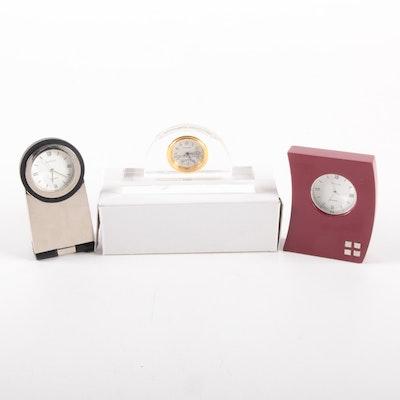 Avalon Desk Clocks Including Crystal, Contemporary