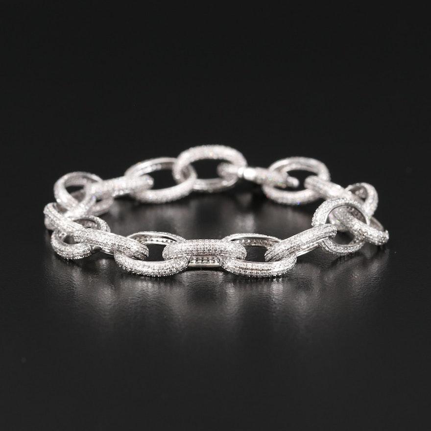 14K 3.00 CTW Pavé Diamond Link Bracelet