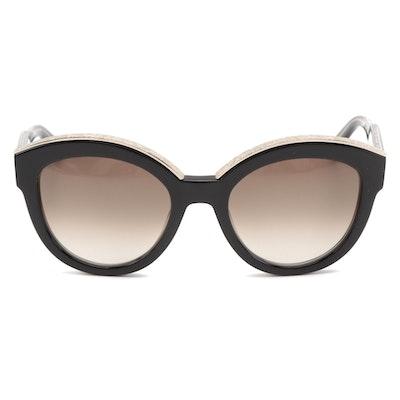 ETRO ET604S Black Modified Cat Eye Sunglasses