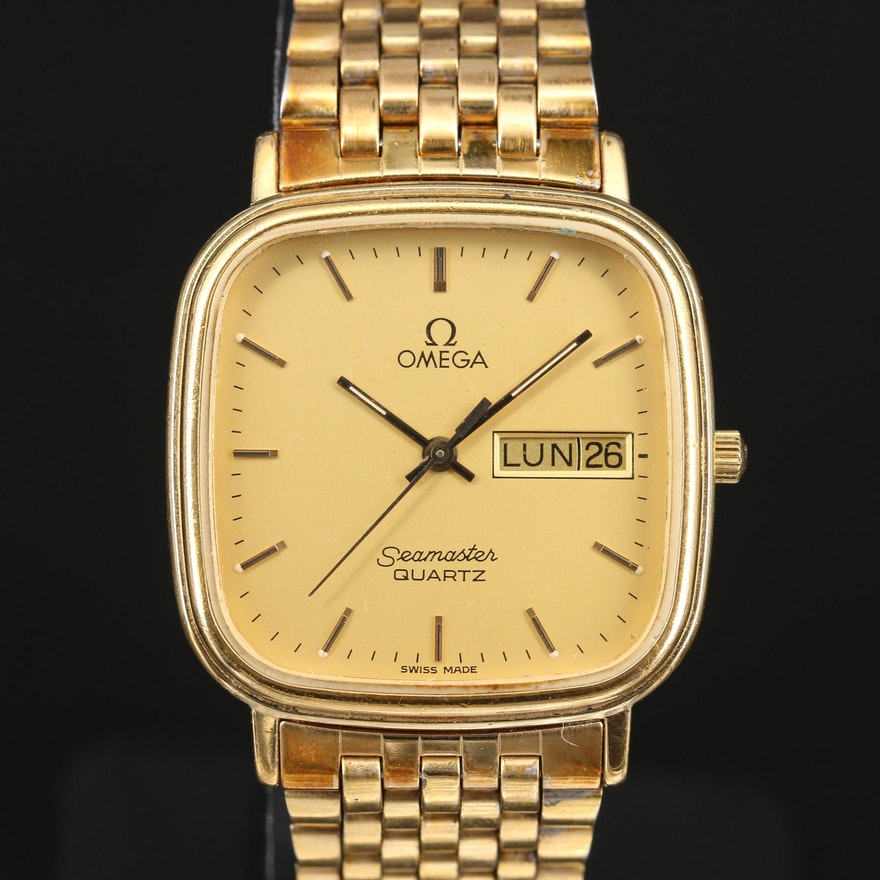 "Omega ""Seamaster Jubilé"" Quartz Day/Date Wristwatch"