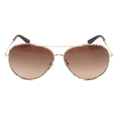 ETRO ET100S Brown Paisley Pilot Sunglasses