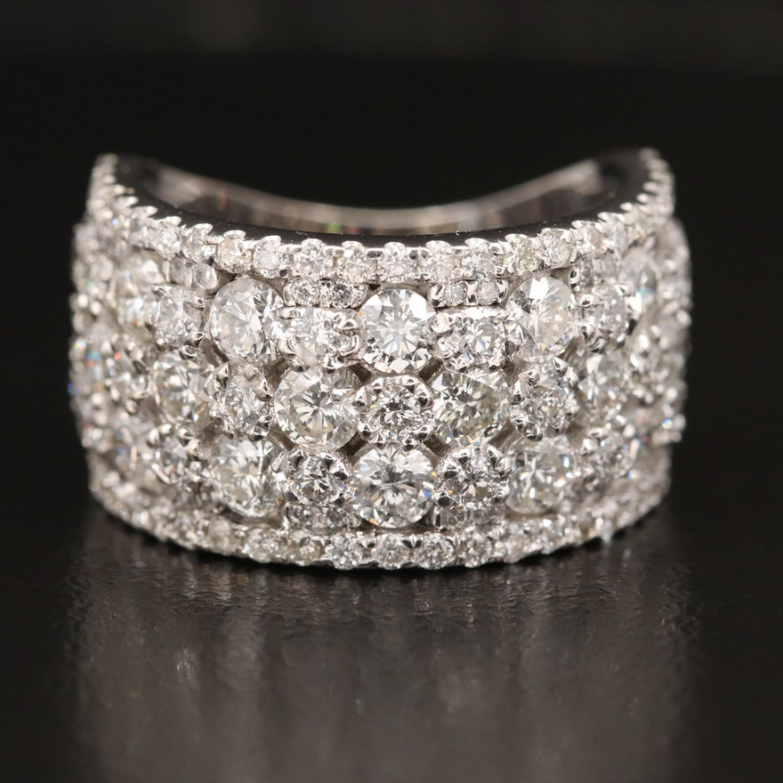 18K 2.70 CTW Diamond Ring with 14K Accent