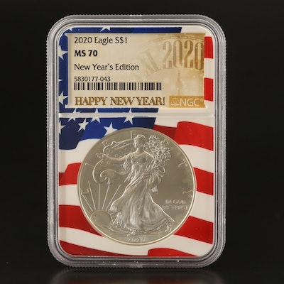 NGC Graded MS70 2020 New Years Edition .999 Fine American Silver Eagle