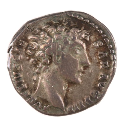 Ancient Roman Imperial AR Denarius of Marcus Aurelius, ca. 140 AD