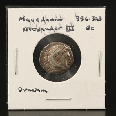 "Macedonian Kingdom, AR Drachm of Alexander III, ""The Great,"" ca. 310 BC"