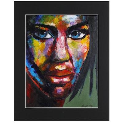 Samson Toba Oladosu Portrait Acrylic Painting