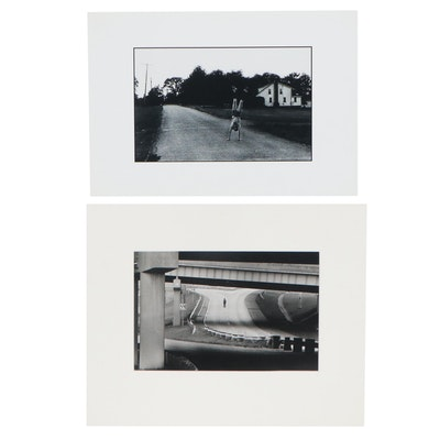 """William D. Wade Silver Gelatin Photographs """"A Lonely Walk,"""" Late 20th Century"""