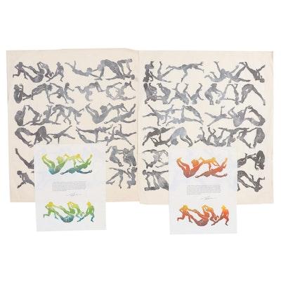 "John Tuska Lithographs ""Flight of Icarus,"" Late 20th Century"