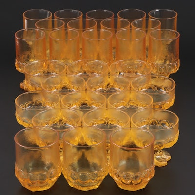 "Franciscan ""Madeira"" Pumpkin Glass Goblets and Tumblers, 1977–1978"