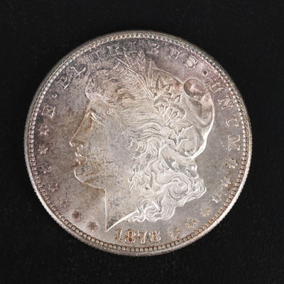 Toned 1878-S Morgan Silver Dollar