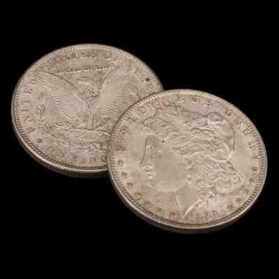 Two 1889 Morgan Silver Dollars