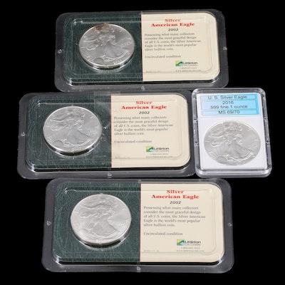 Four American Silver Eagles