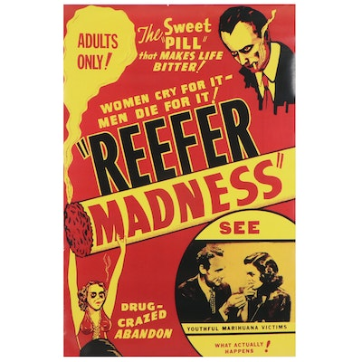 "Offset Lithograph after Movie Poster ""Reefer Madness,"" 21st Century"