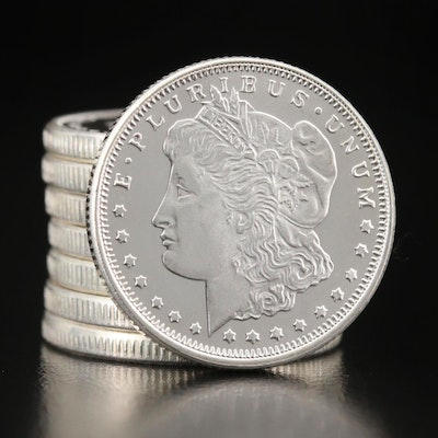 Eight Morgan Dollar-Themed 1/4 Oz. Silver Rounds