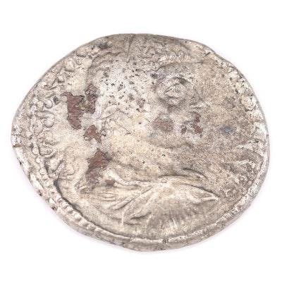 Ancient Roman Provincial AR Tetradrachm Coin of Elagabalus, ca. 218 AD