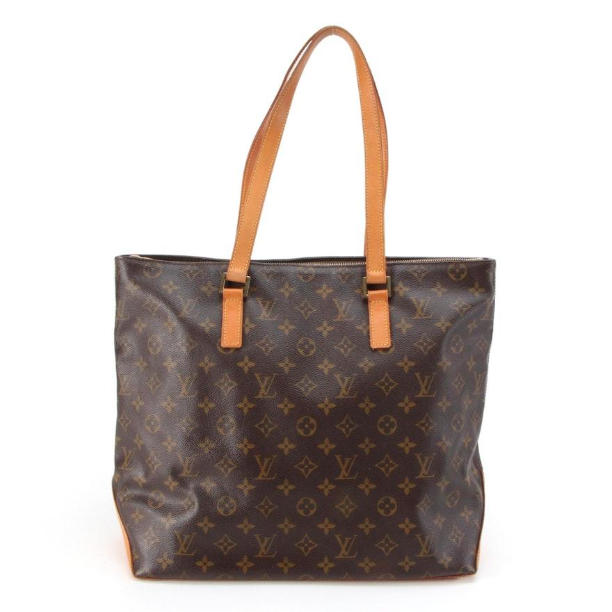 Louis Vuitton Cabas Mezzo in Monogram Canvas and Vachetta Leather