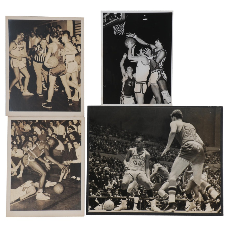 Harry K. Frye Silver Gelatin Photographs of Basketball Scenes