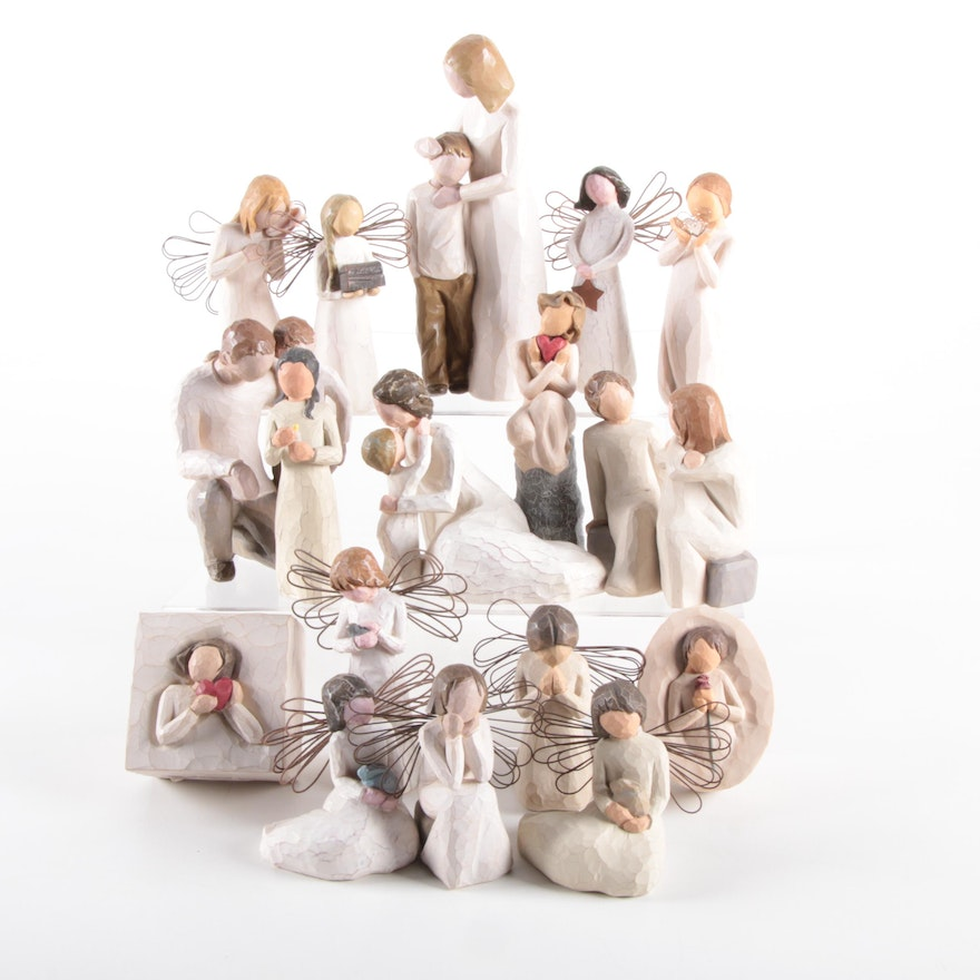 """Demdaco Willow Tree """"Angel of Healing"""" and Other Resin Figurines"""