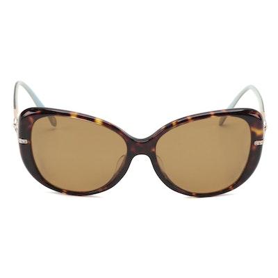 Tiffany & Co. TF 4126BF Havana Butterfly Prescription Polarized Sunglasses