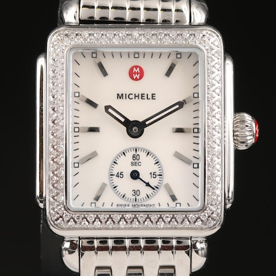 "Michele ""Deco"" Diamond Wristwatch"