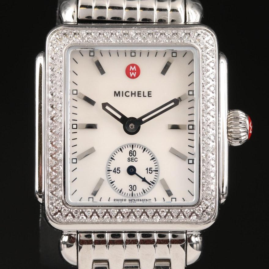 """Michele """"Deco"""" Diamond Wristwatch"""
