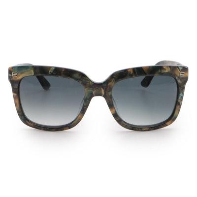ETRO ET6118 Olive Marbled Rectangular Sunglasses