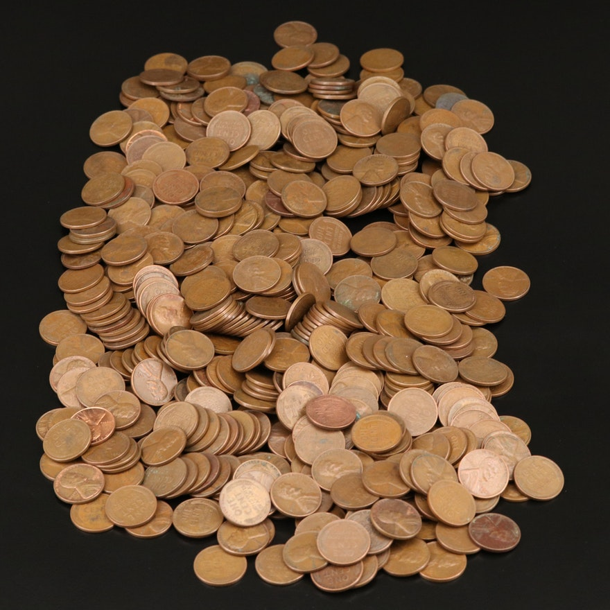 Approximately 520 Lincoln Wheat Cents