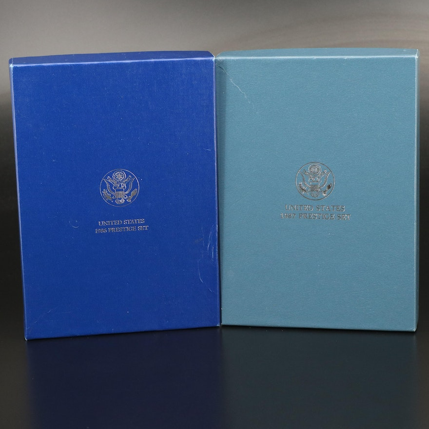 U.S. Mint Liberty and Constitution Prestige Proof Sets, 1986 and 1987