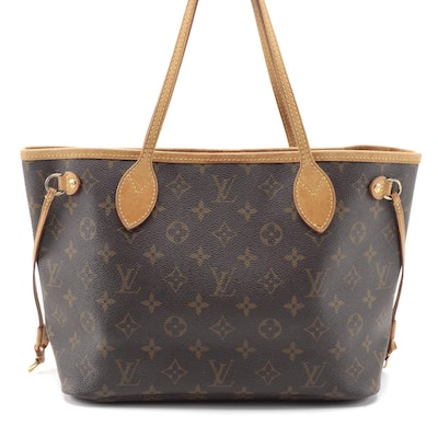 Louis Vuitton Neverfull PM Tote in Monogram Canvas and Vachetta Leather