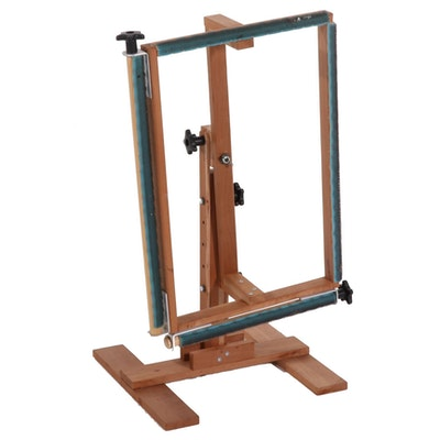Adjustable Floor Stand for Needlework and Other Fiber Arts