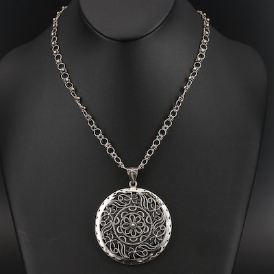 Indian Wirework Median Pendant Necklace