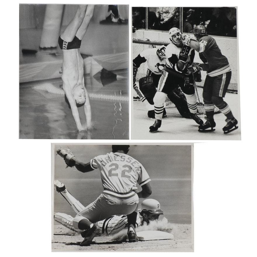 Harry K. Frye Sports-Themed Silver Gelatin Photographs