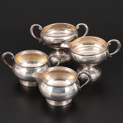 Fisher and Mueck Cary Sterling Silver Creamer and Open Sugar Bowl