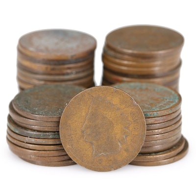 Forty-Six Indian Head Cents