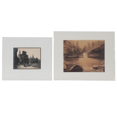 Silver Gelatin Landscape Photographs, Late 20th Century