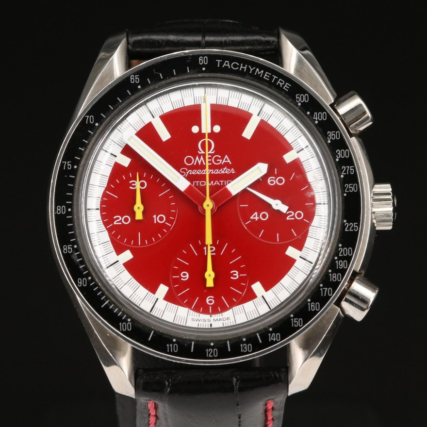 Omega Speedmaster Reduced Michael Schumacher Chronograph Wristwatch