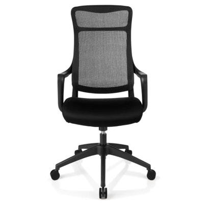 "Realspace ""Lenzer"" Black Mesh High-Back Task Chair"