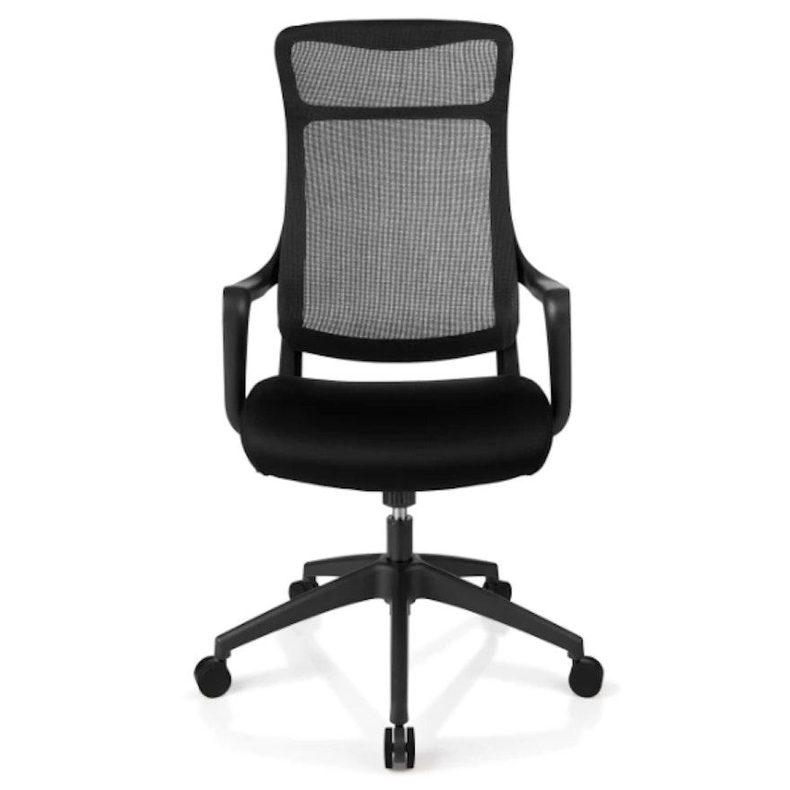 "Realspace ""Lenzer"" Black Mesh High-Back Task Chair"