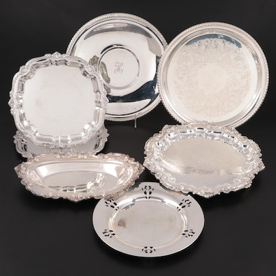Wallace, Empire and Wm Rogers Silver Plate and Other Silver Tone Serveware