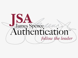 Authenticated in-person by JSA (James Spence Authentication)