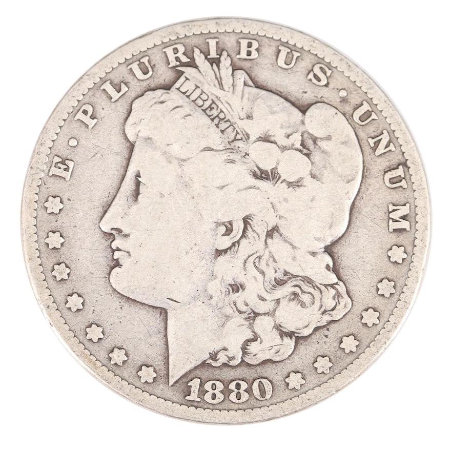 Key Date Low Mintage 1880-CC Morgan Silver Dollar