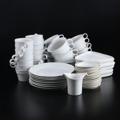 "Bennington Potters ""White"" Earthenware Dinnerware"