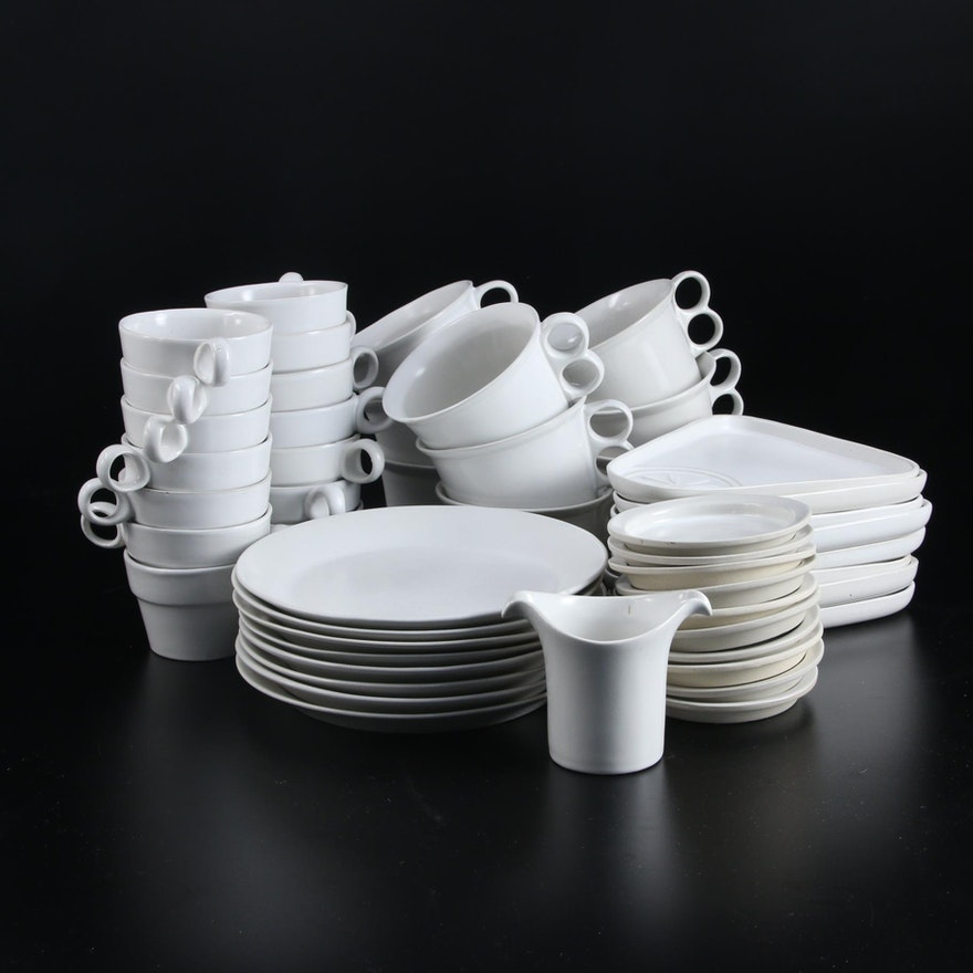 "Bennington Potters ""White"" Earthenware Dinnerware"