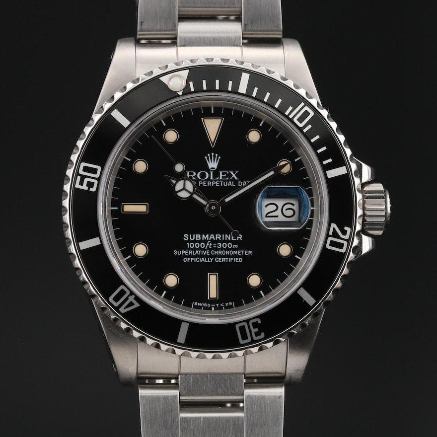 """1987-1988 Rolex Submariner Transitional """"Triple Zero"""" Wristwatch"""