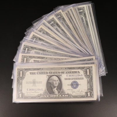 Thirty-Two $1 Silver Certificates, 1935 and 1957